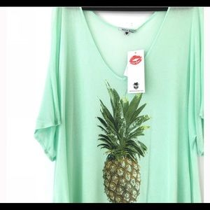 0cbcda2b53619 Wildfox Swim - Wildfox Pineapple Tunic Swim Coverup